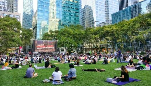 Cine al aire libre en Nueva York (verano de 2017)