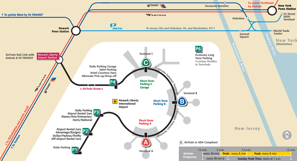 Mapa-aeropuerto-Newark-Manhattan-transporte