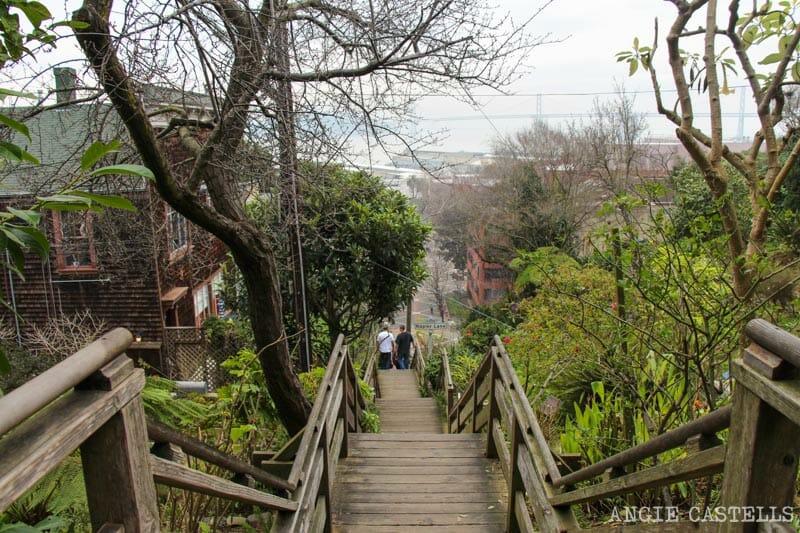 Que ver San Francisco Itinerarios Filbert Steps