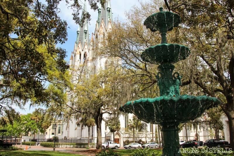 Guia de Savannah que ver y hacer Pulaski Square