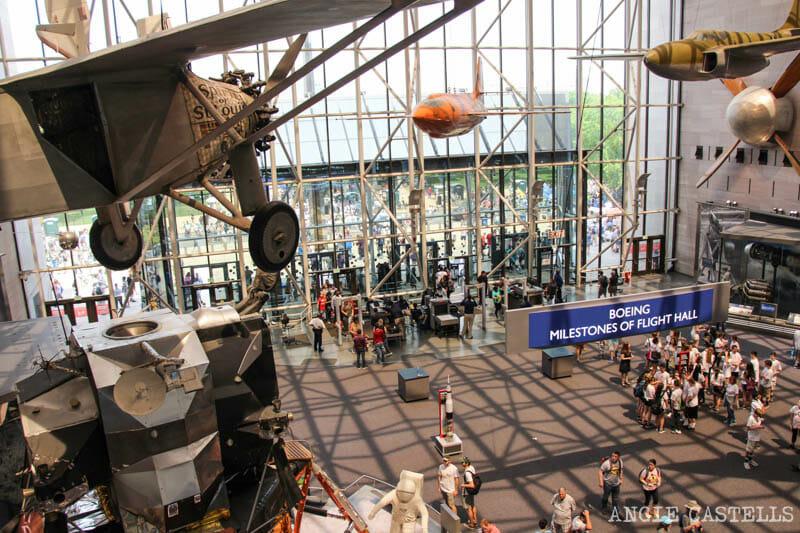 Guia Washington DC Que ver Excursion desde Nueva York Museo del Aire y el Espacio