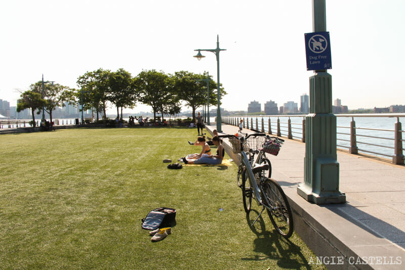 Ruta bici Nueva York Hudson River Battery Park