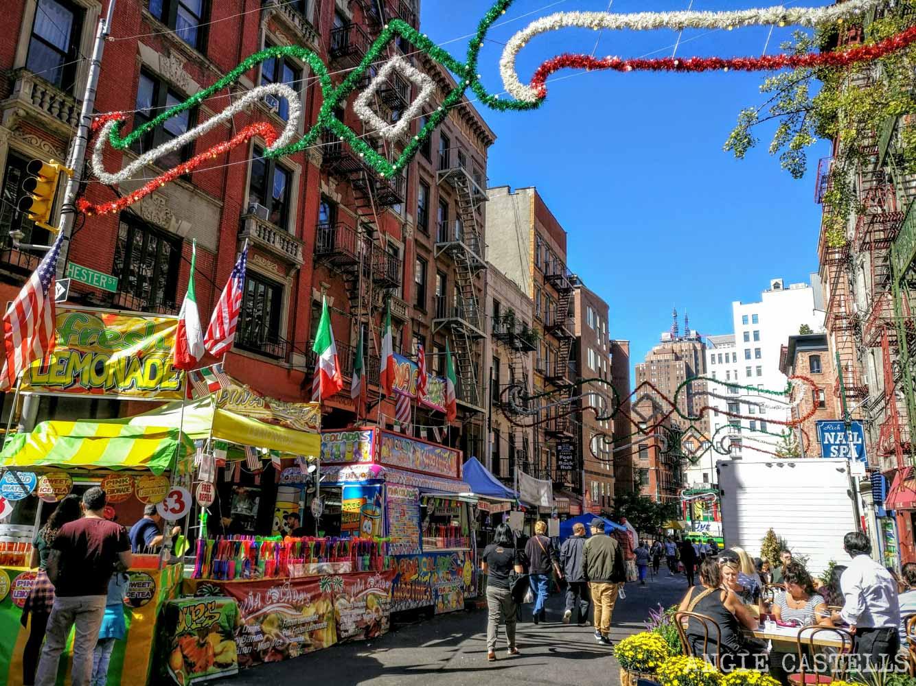 Que hacer Septiembre en Nueva York San Gennaro Little Italy