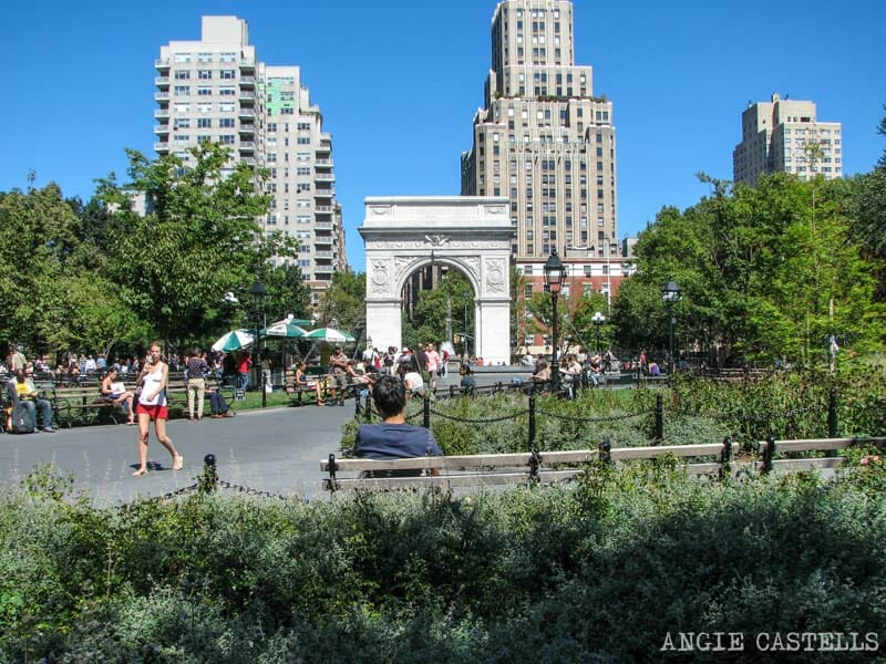 Barrios de Manhattan Mapa Washington Square