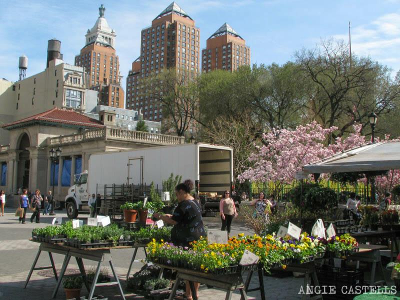 La primavera en Nueva York que hacer mercado Union Square
