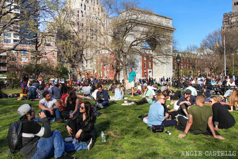Diccionario de Nueva York palabras tipicas Washington Square