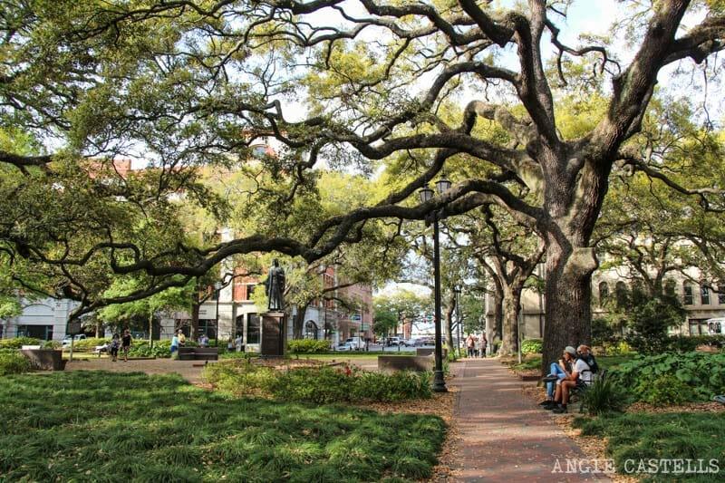 Guia de Savannah que ver y hacer Reynolds Square