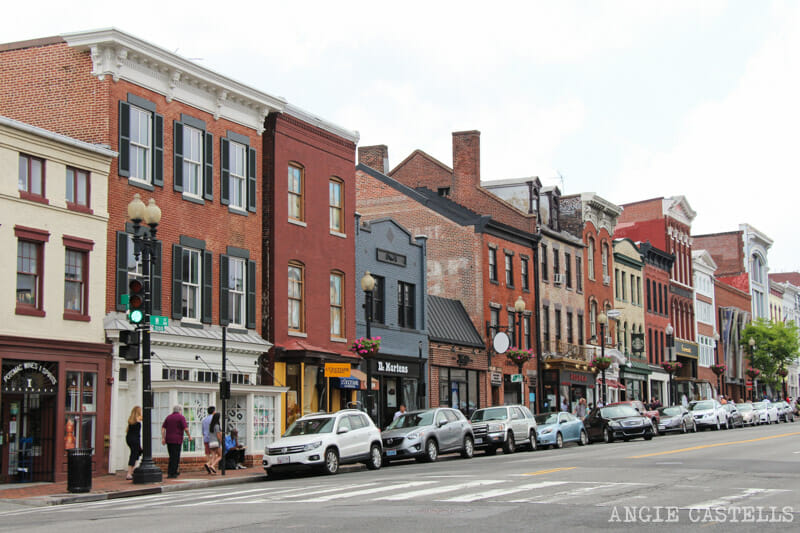 Guia Washington DC Que ver Excursion desde Nueva York Barrio Georgetown