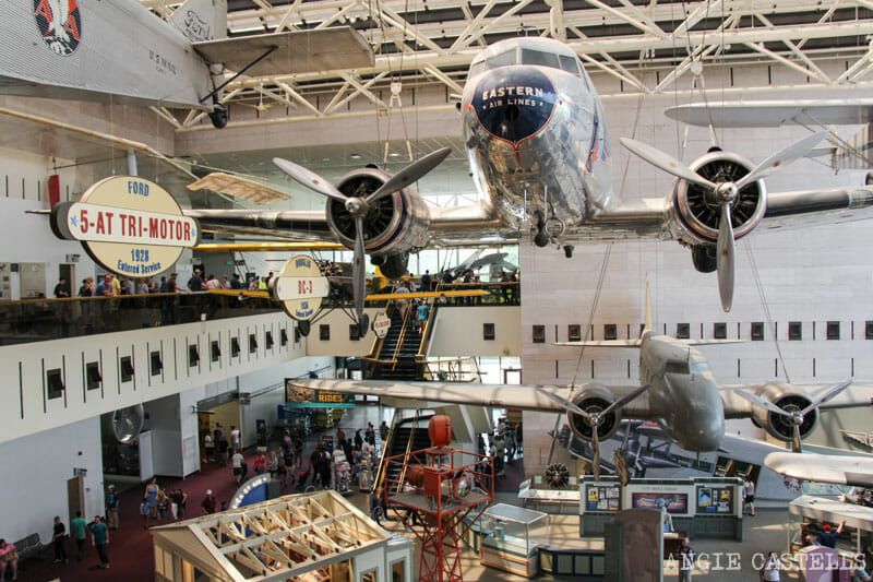 Guia Washington DC Que ver Excursion desde Nueva York National Air and Space Museum