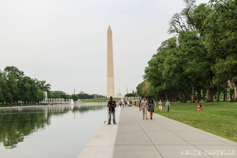 Guia Washington DC Que ver Excursion desde Nueva York Reflecting Pool