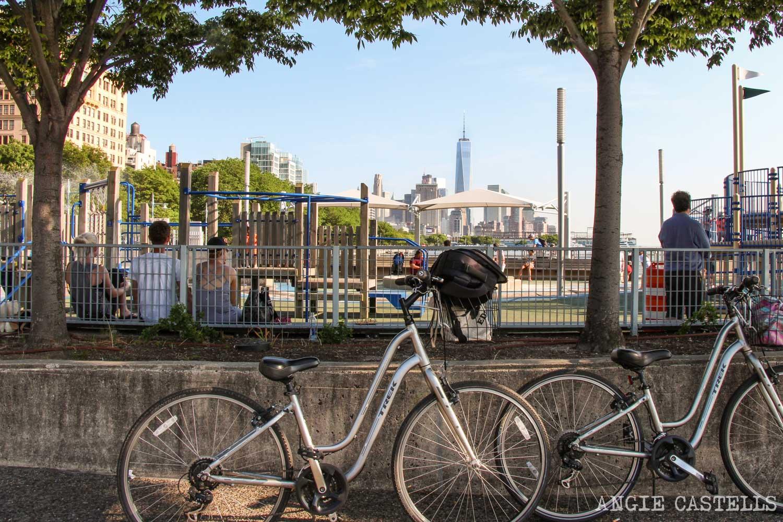 Ruta bici Nueva York Hudson River Battery Park 1500