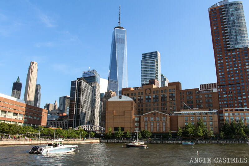 Ruta bici Nueva York Hudson River Battery Park One World