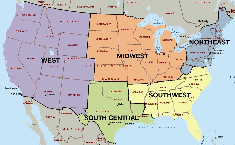 Preparativos-viajar-Estados-Unidos-Mapa-Regiones